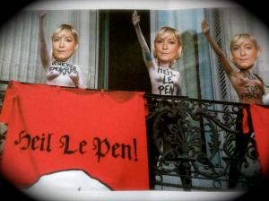 Marine le Pen en Femen