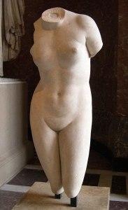 Torse de l'Aphrodite de Cnide Louvre