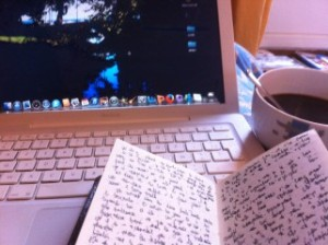 matin d'écriture